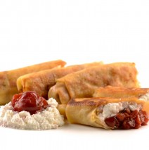 Cherry and Cheese Crepes