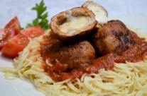 Stuffed Meatball with Mozzarella